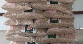 Wood pellet factory